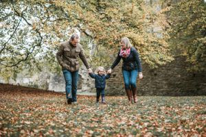 Family Portrait Autumn Photography Oxfordshire Oxford Photographer Minster Lovell Leaves