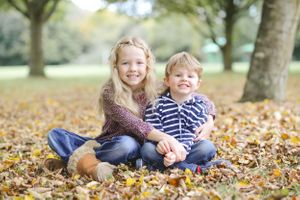Family Portrait Autumn Golden Hour Photography Oxfordshire Oxford Photographer Leaves