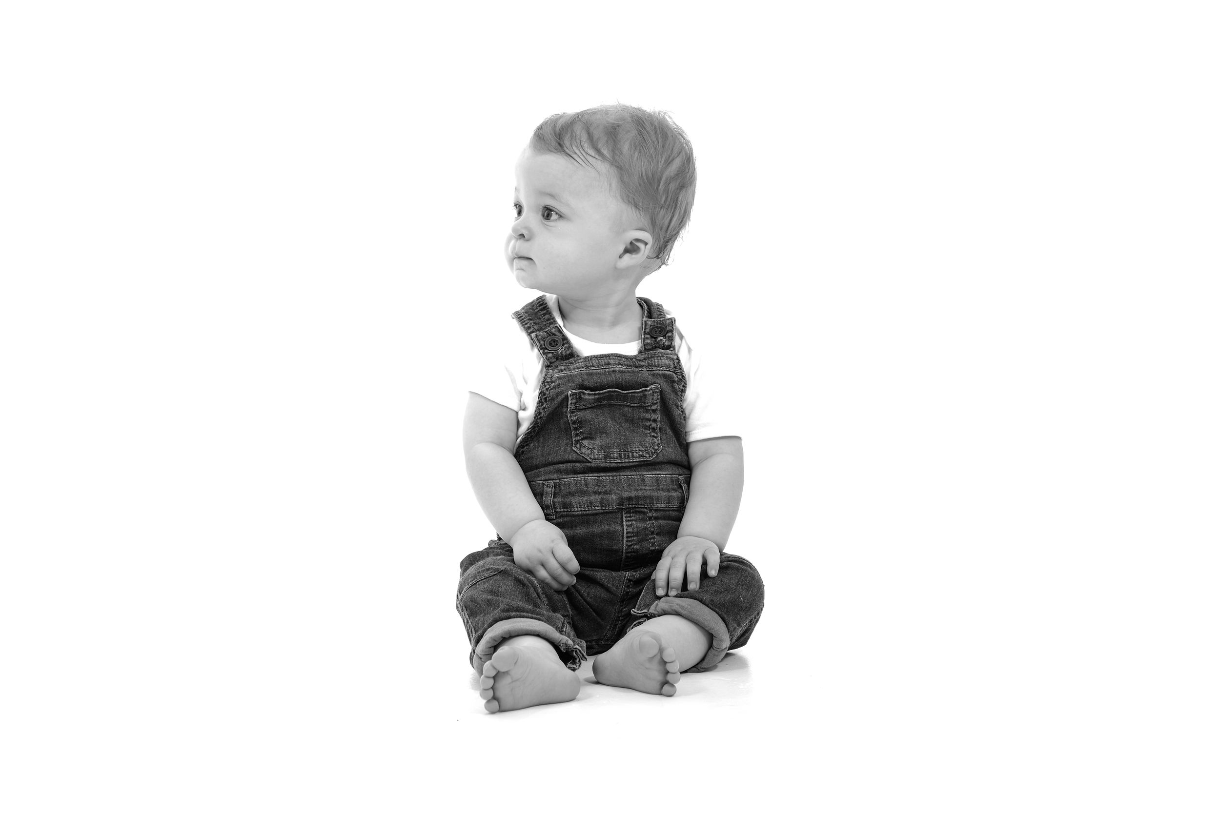 Studio Portrait Witney Photography Black and White Child Family Cute