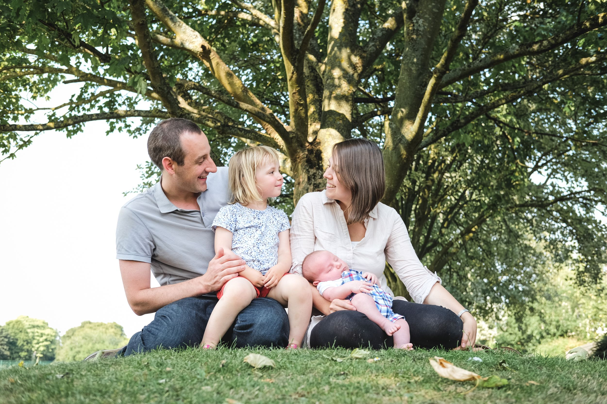 Family Portrait Summer Photography Oxfordshire Oxford Photographer Trees