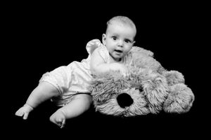 Baby Family Portrait Studio Black and White Photography Oxfordshire Oxford Photographer