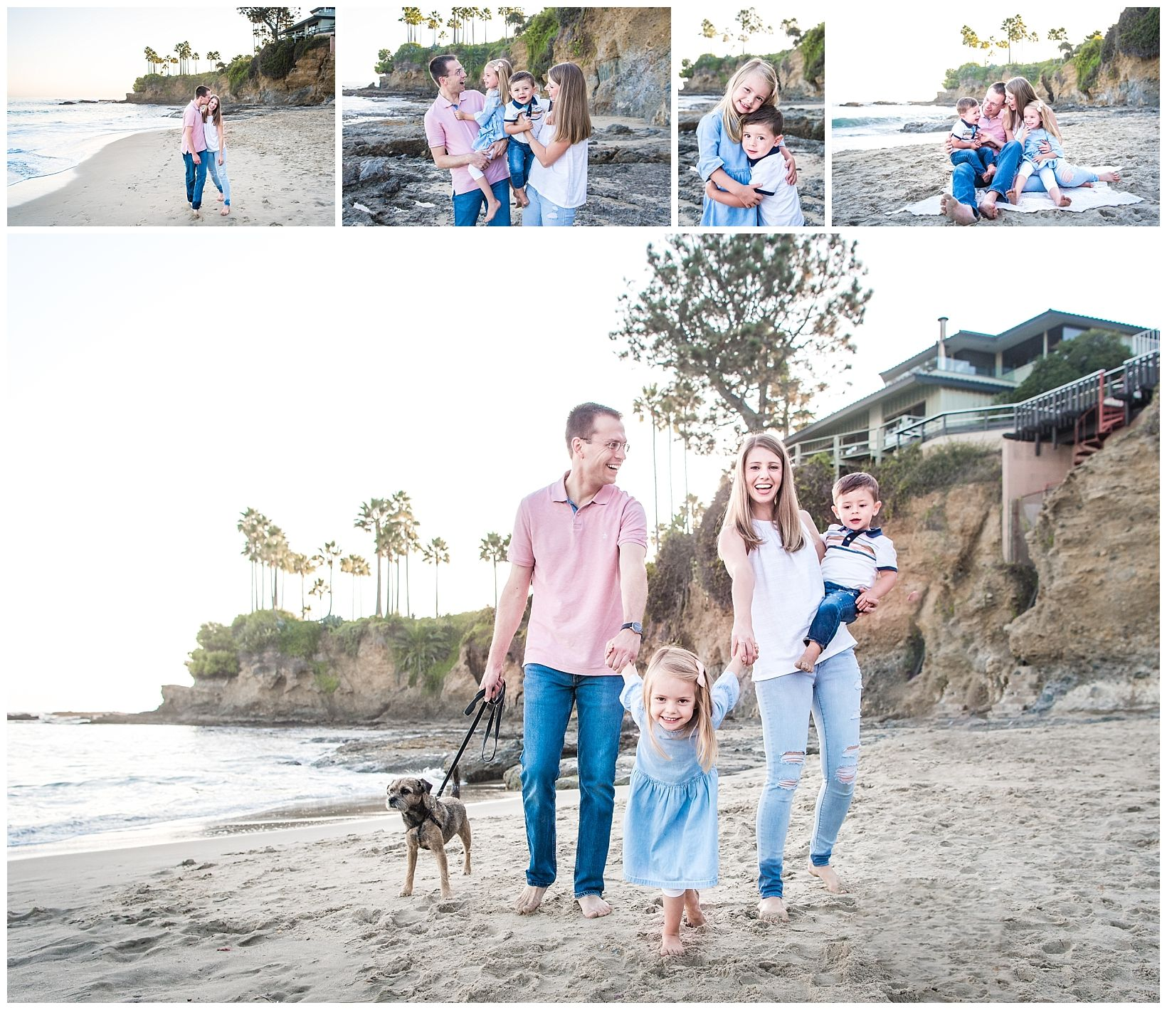 Family Photograph on the beach in Laguna Beach, CA