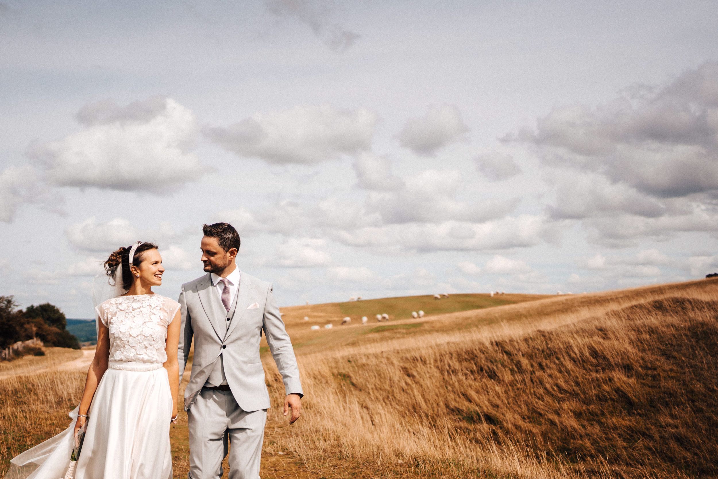 Cheltenham wedding photography at Cleeve Common
