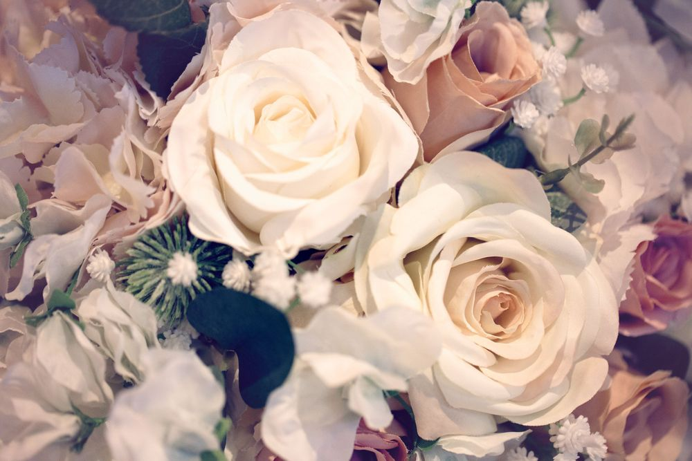 close up image of wedding flowers