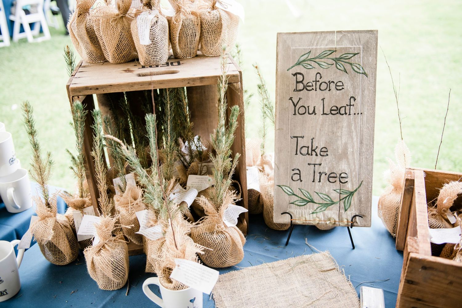 wedding favors for backyard farm wedding
