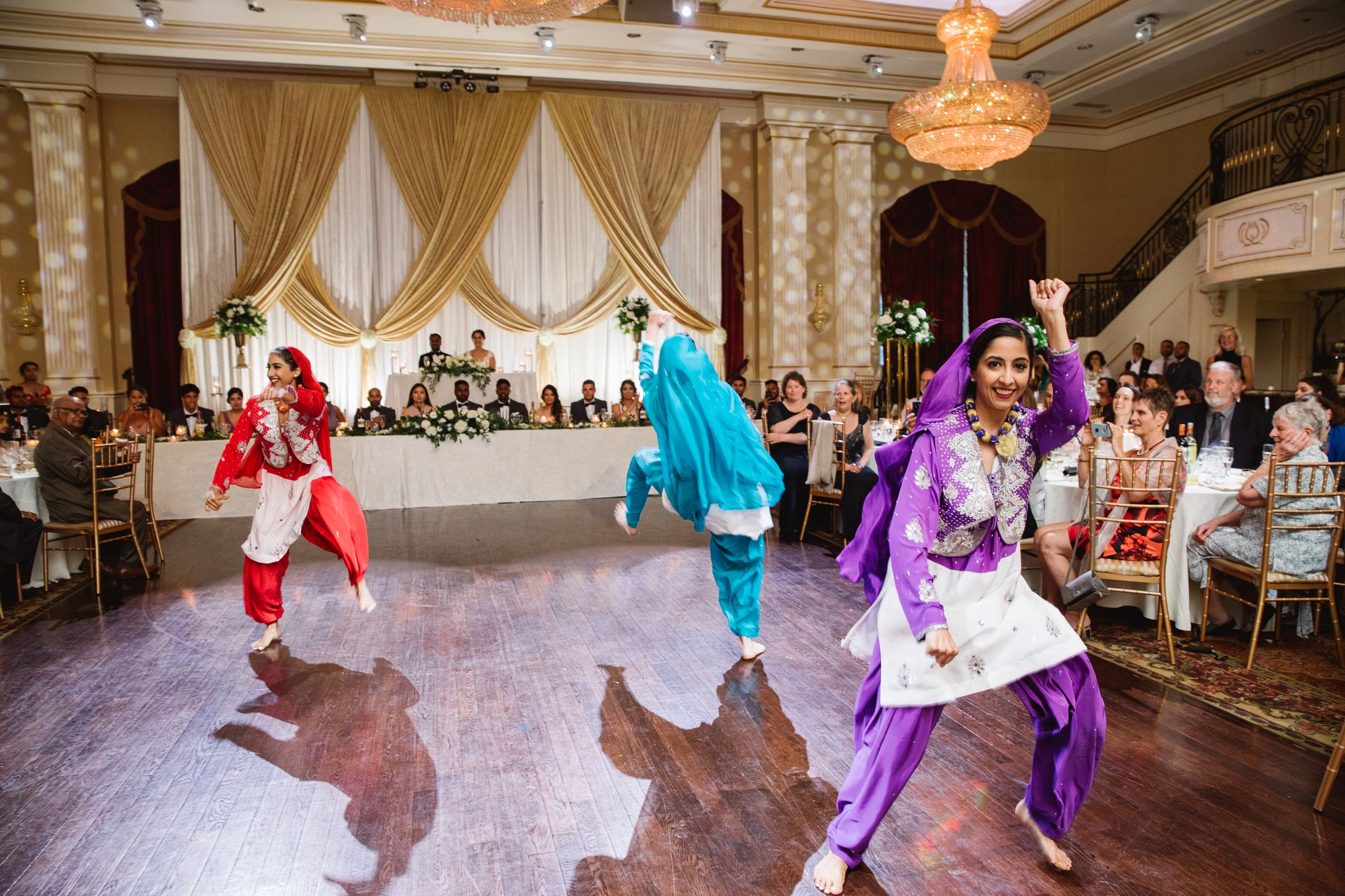 bhangra dancers at a wedding in toronto