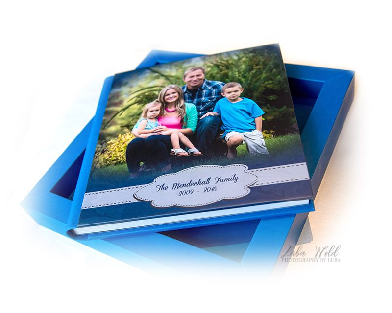 spokane family memory book cover in a box photographer luba wold