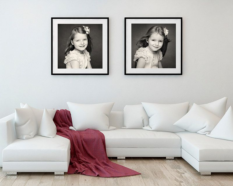 Framed gallery portraits by David Calvert Photography
