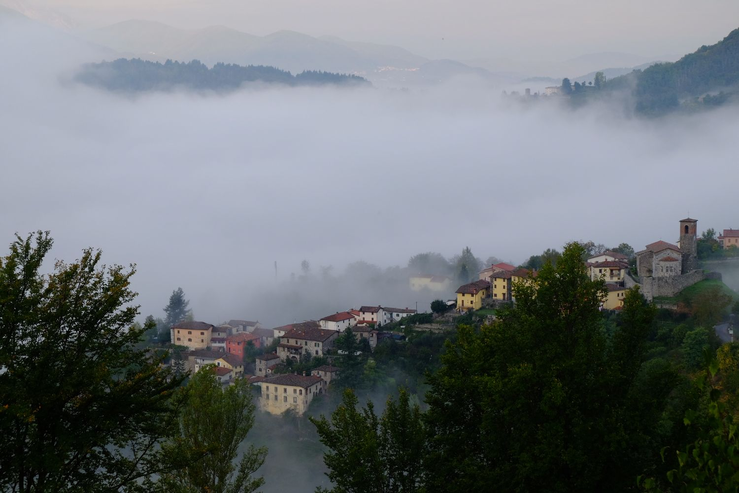 foggy day in Tuscany