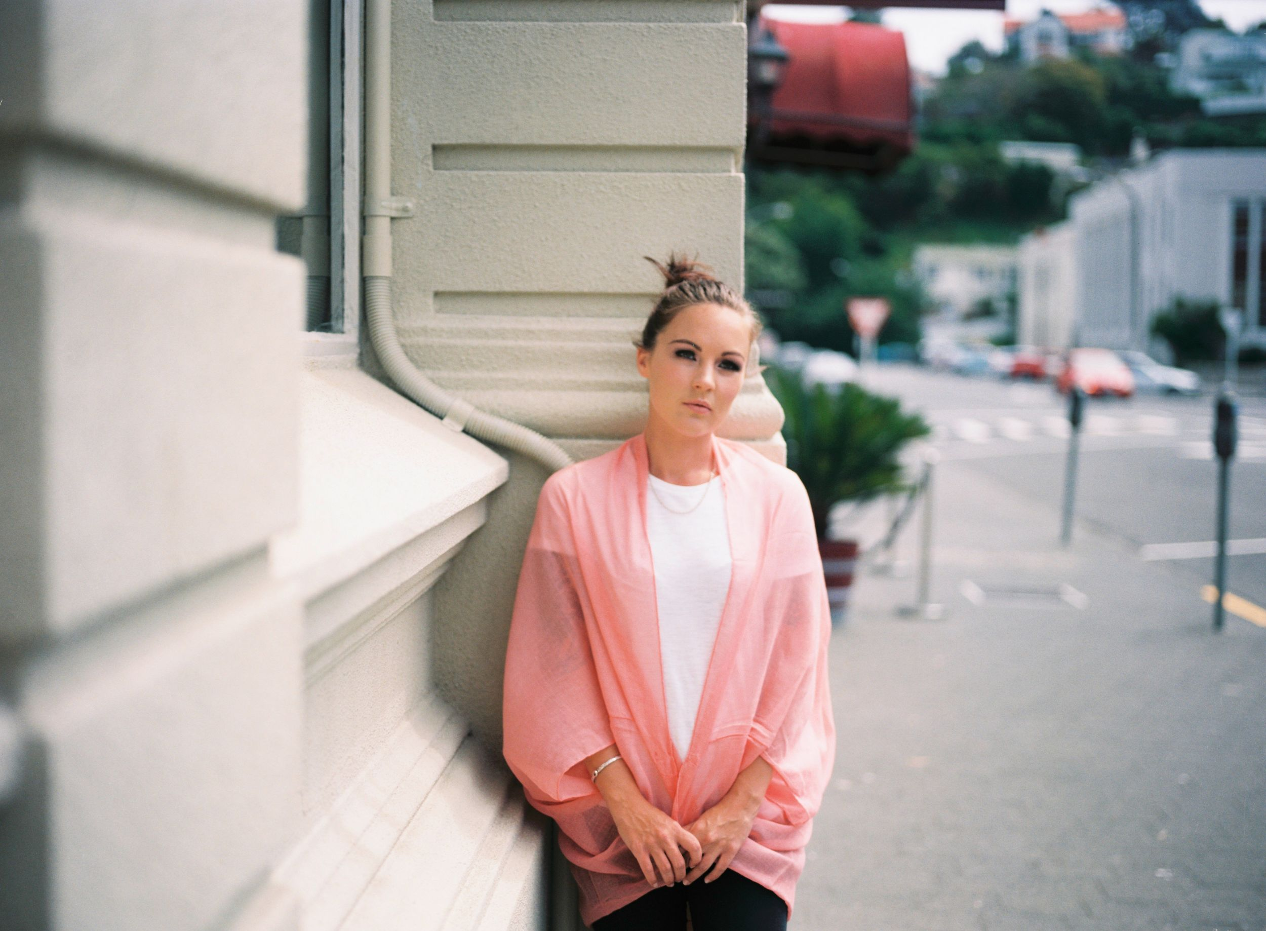 Mamiya 645, film, film photographer, Hawke's Bay Photographer, pastel, female model, portrait