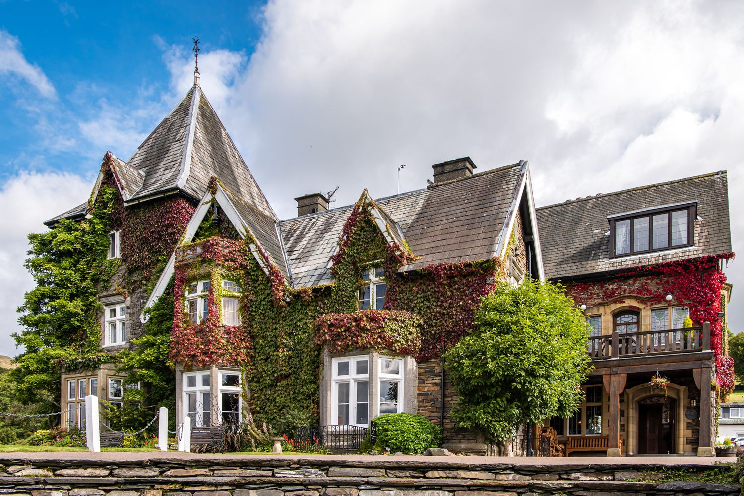 Holbeck Ghyll Hotel set on the hill overlooking Windermere in Cumbria