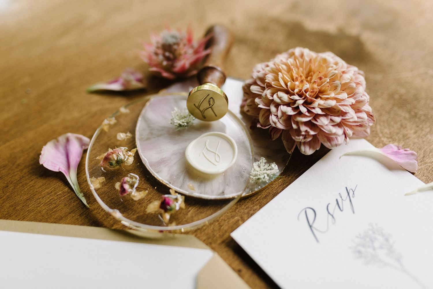 sealing wax wedding details