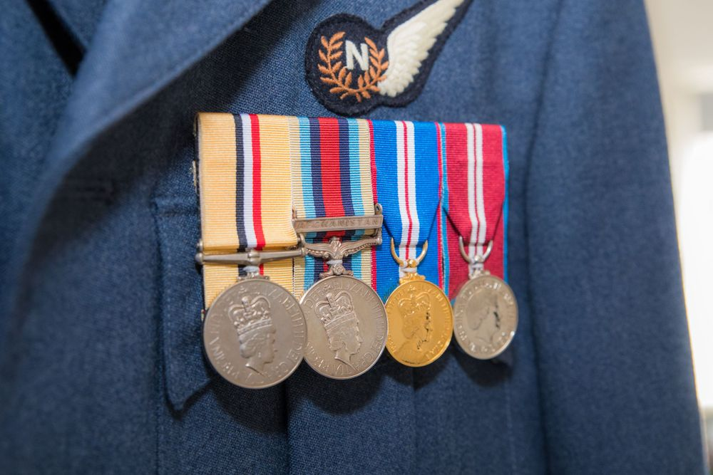 RAF Medals, Long Crendon manor - Robert Nelson Wedding Photography