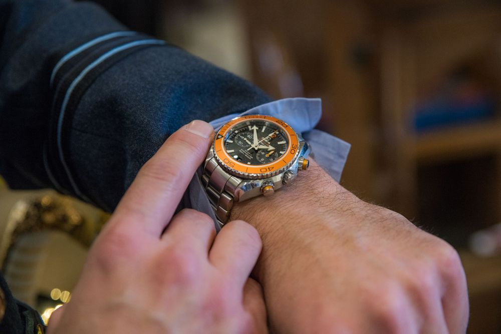 RAF man's watch, Long Crendon manor - Robert Nelson Wedding Photography