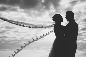 Black and white wedding - Nicolas Fanny - Mauritius Wedding Photographer - Destination Wedding