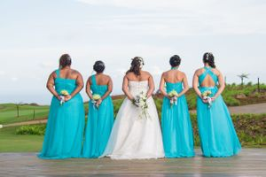 Beautiful back bridesmaid - Nicolas Fanny - Mauritius Wedding Photographer - Destination Wedding