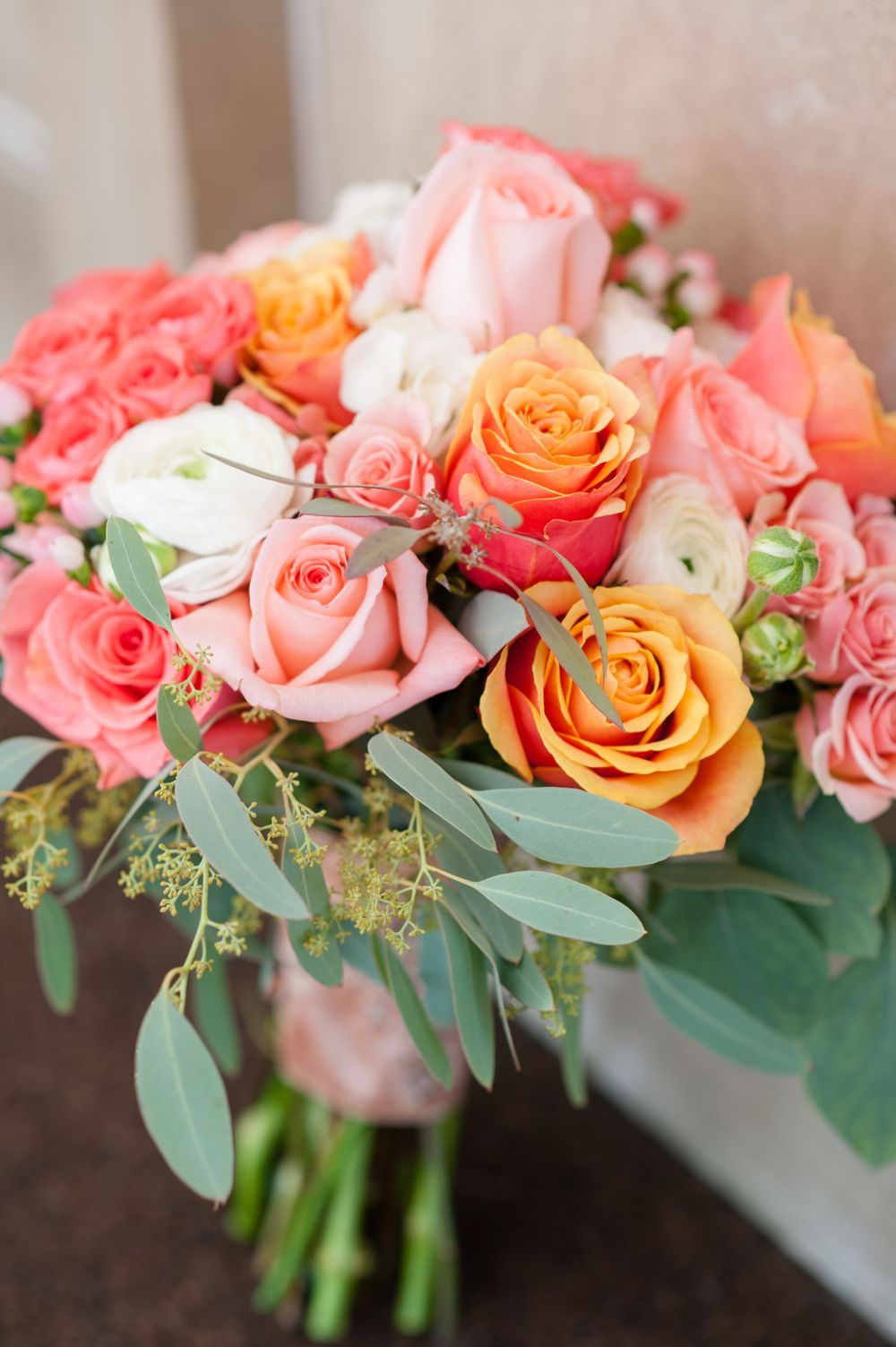 bridal bouquet roses michigan wedding photographer