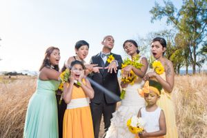 Funny wedding faces - Nicolas Fanny - Mauritius Wedding Photographer - Destination Wedding