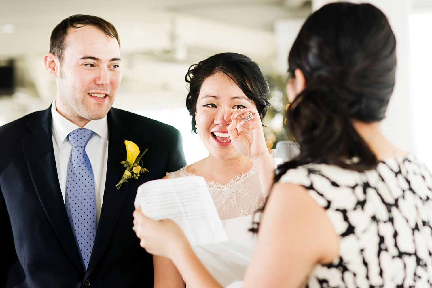 touching moments during wedding toast