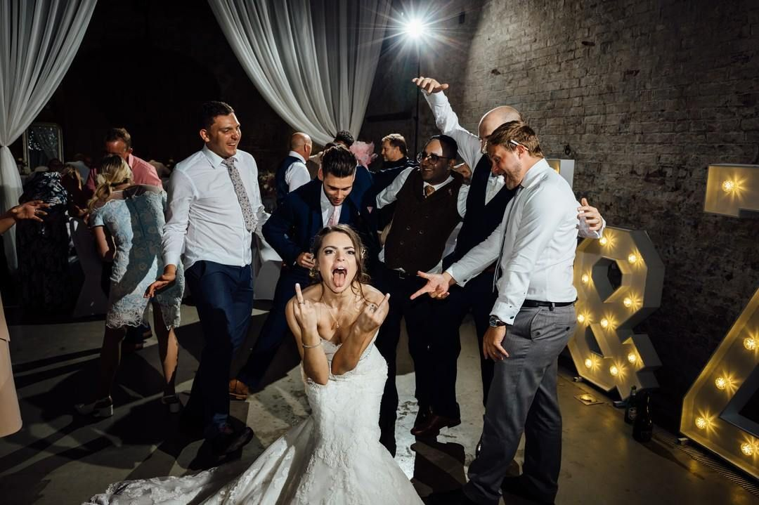 Crazy Bride Calke Abbey Wedding Photo