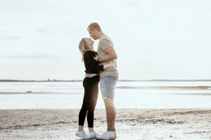 Fotoshooting am Strand in Kiel