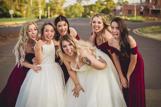 We love photographing fun and relaxed brides, especially with their equally awesome bridesmaids.