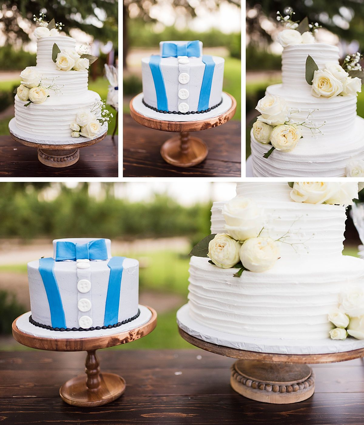 Central Valley California vineyard wine country destination wedding reception cake