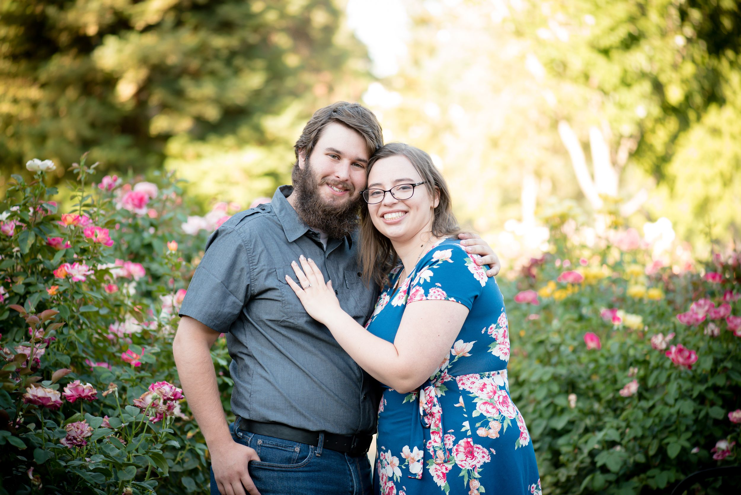 Sacramento engagement photographer - engagement session at the Capitol World Pease World Garden in Sacramento, Calif.