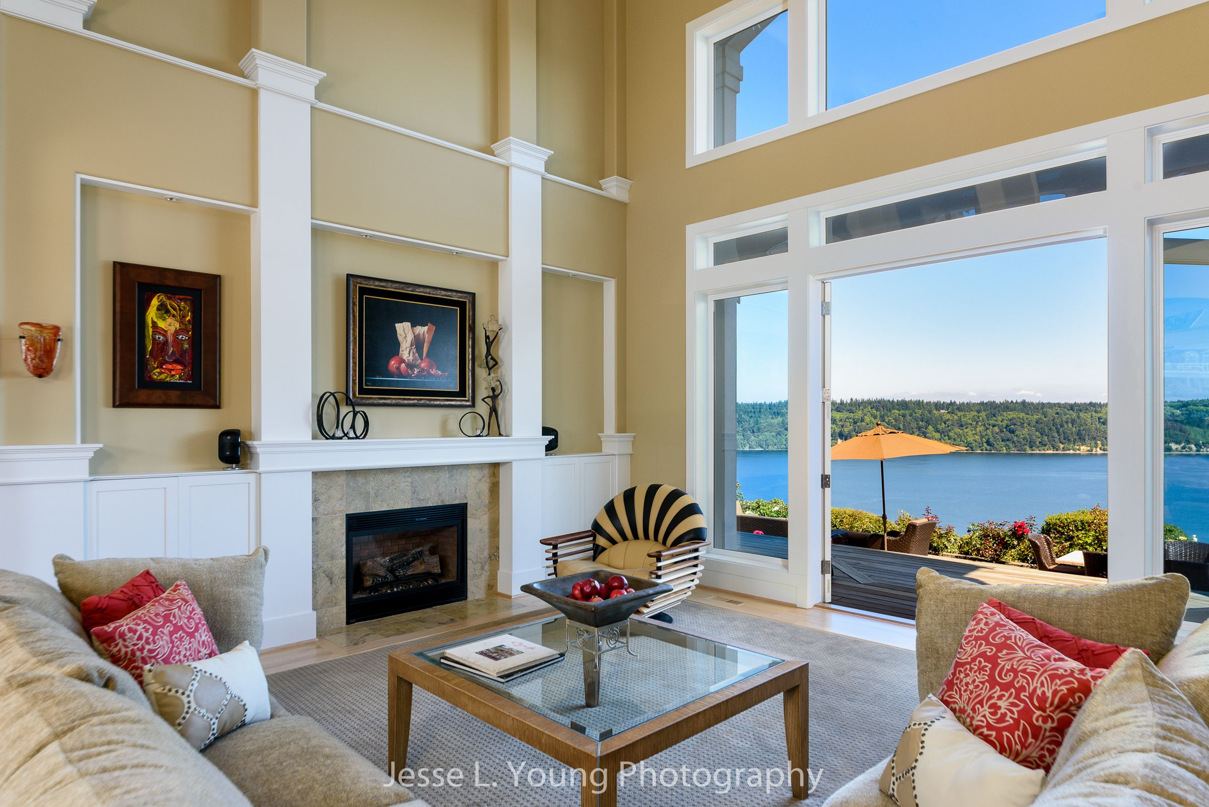 Gig Harbor waterfront interior photographer