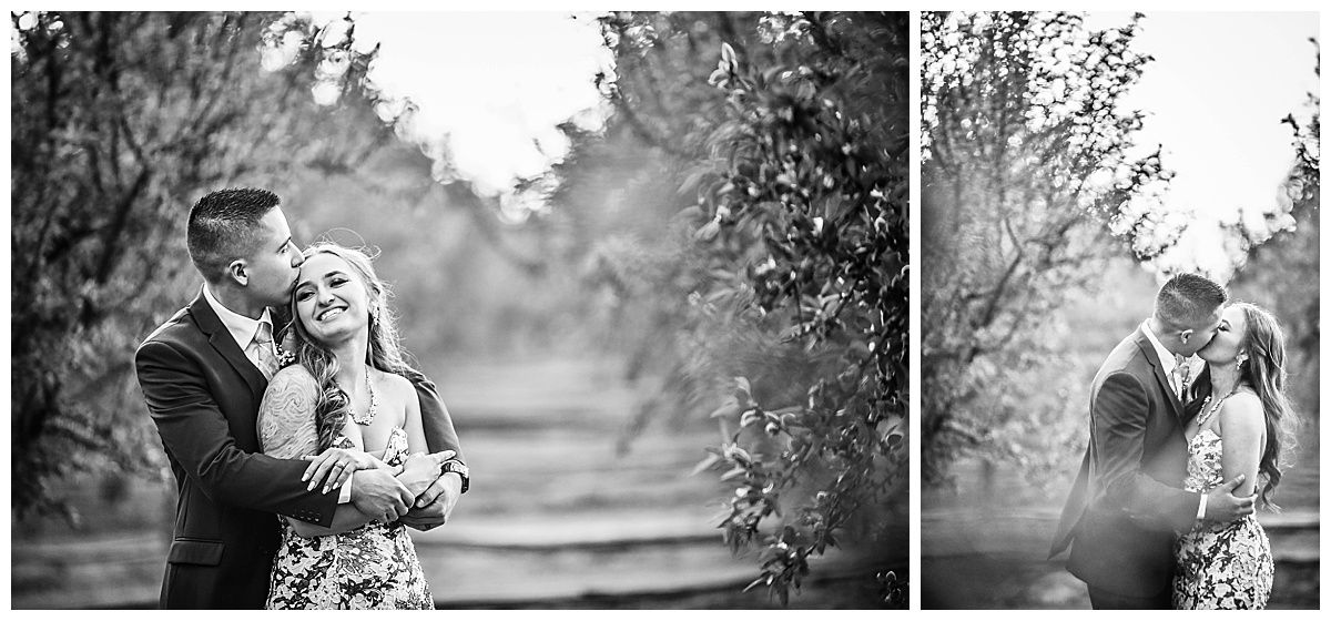 Central Valley California orchard wedding