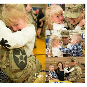 little girl cries when reunited with her soldier daddy