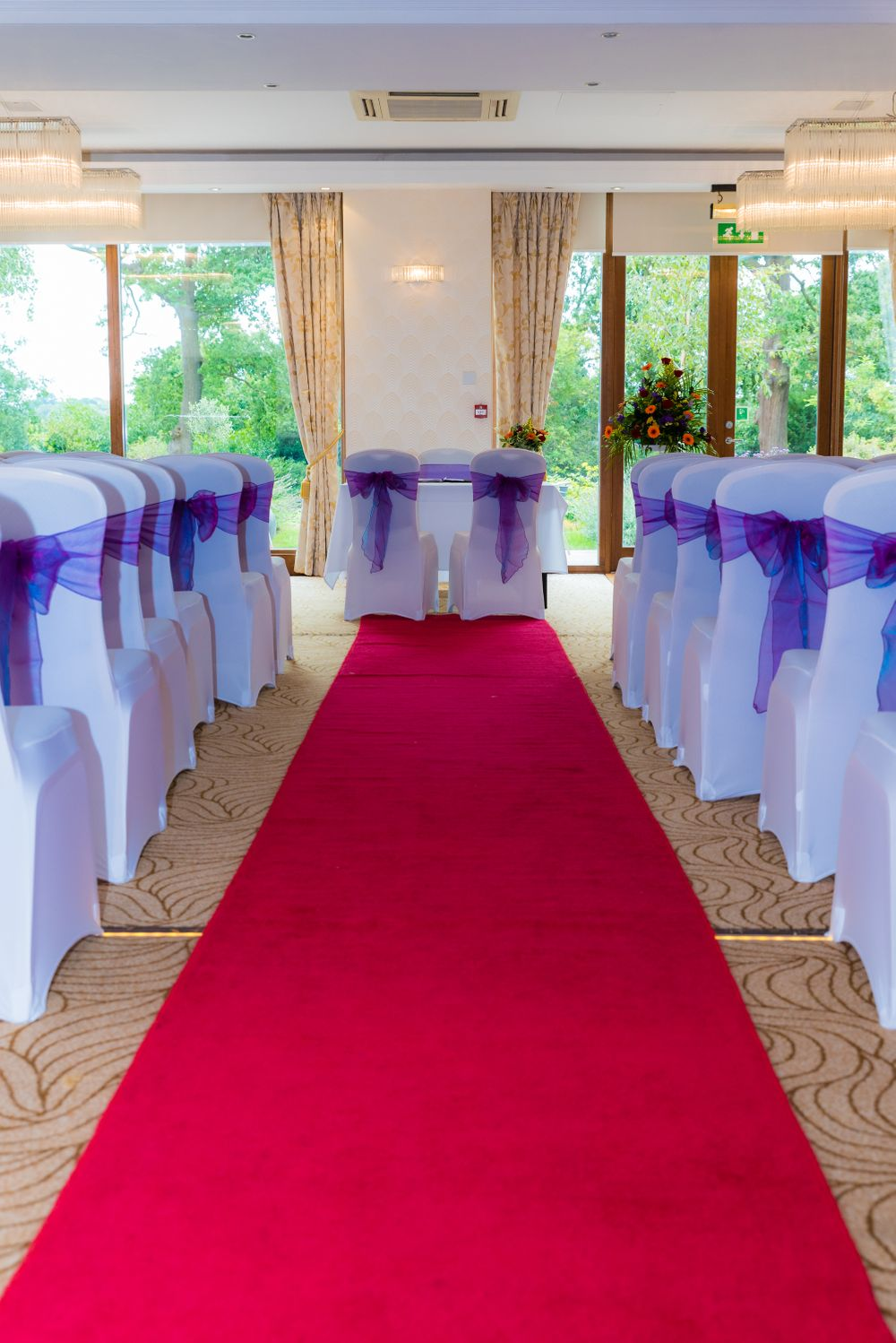 wedding ceremony room at Bromley Court Hotel