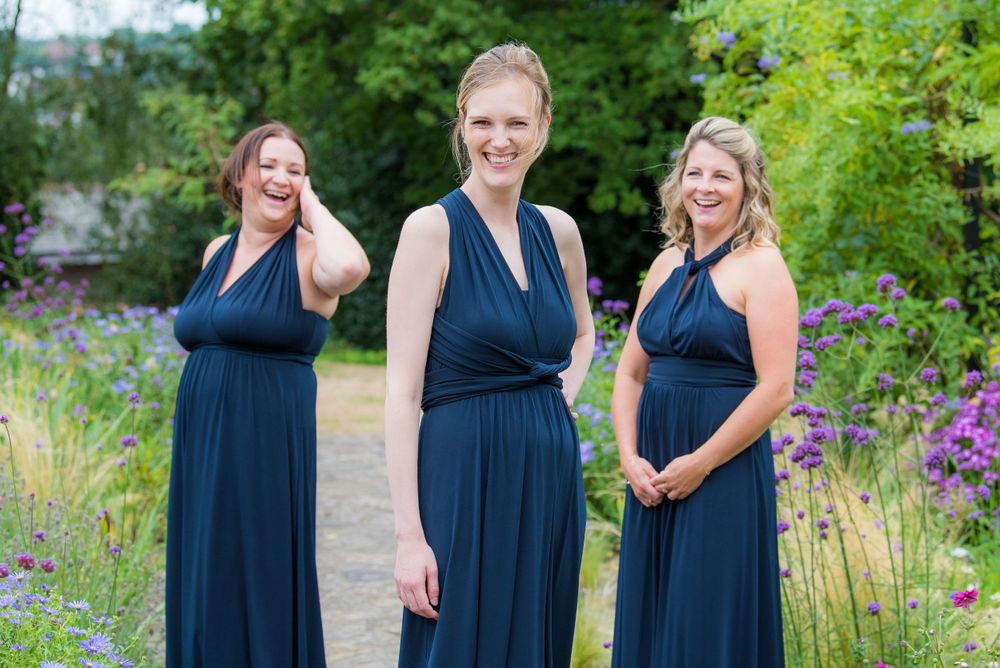 three bridesmaids at Bromley Court Hotel