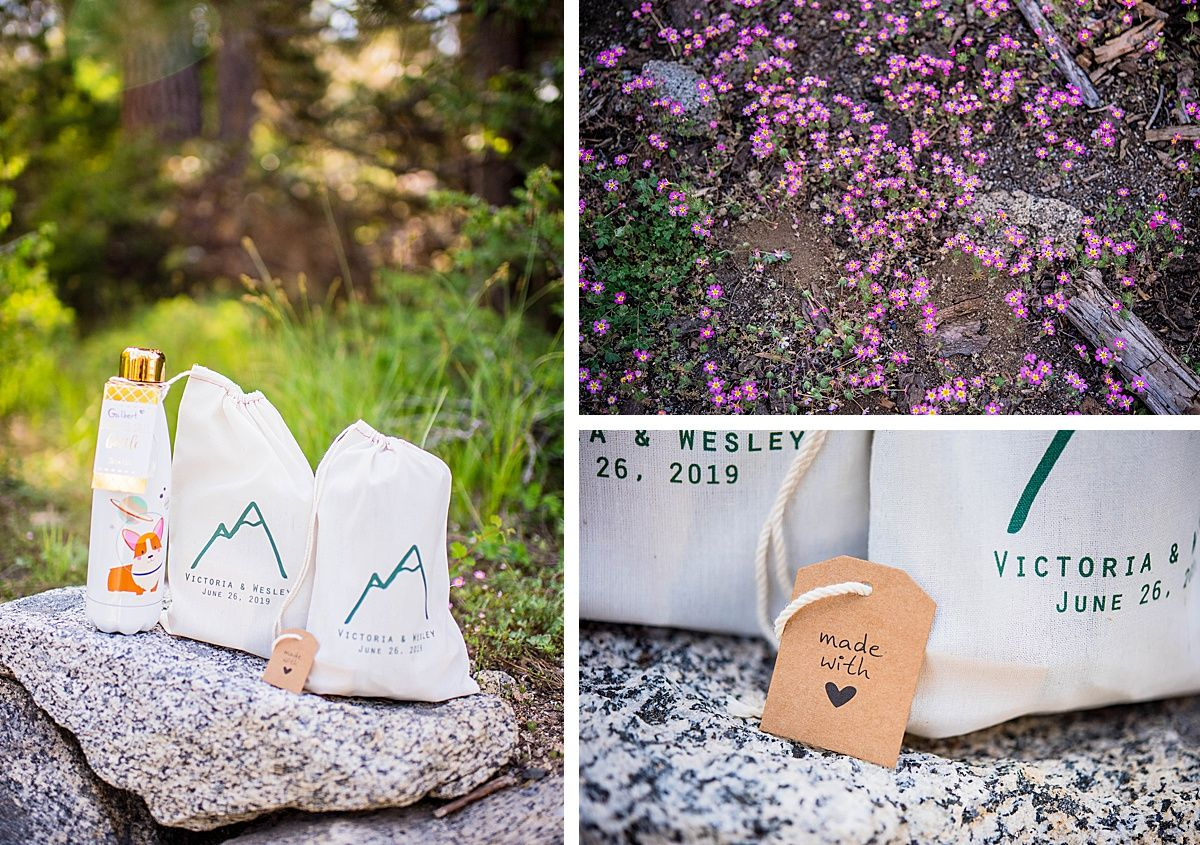 sequoia national wuksachi lodge rock wedding adventure destination favors