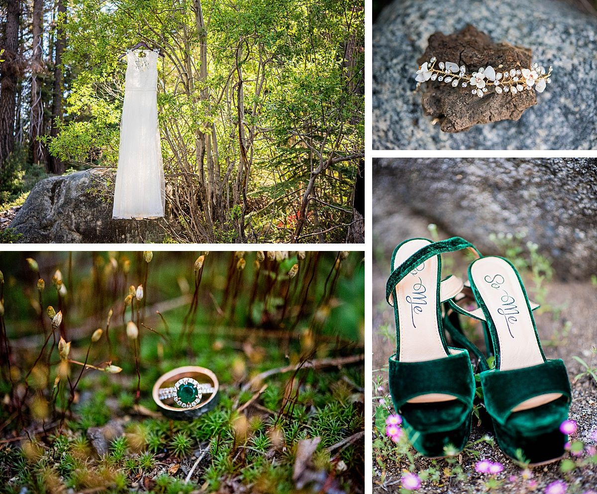 sequoia national wuksachi lodge rock wedding adventure destination dress rings shoes