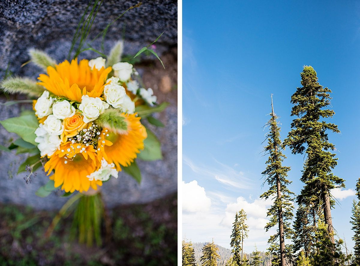 sequoia national wuksachi lodge rock wedding adventure destination bouquet