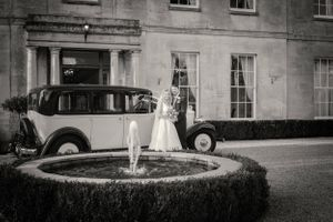 Wedding with classic car at Eastington Park