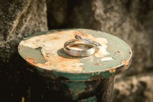 Wedding rings at The Old Lodge