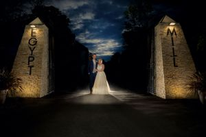 Bride & Groom at Egypt Mill Gates