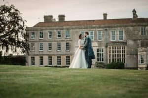 Wedding couple at Elmore Court