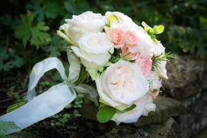 Wedding bouquet with mint at Rococo Gardens