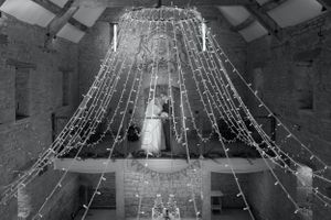 Great Tythe Barn Tetbury Bride & Groom