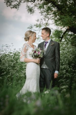 Bride & Groom at Eastington Park natural pose