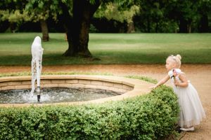Flowergirl and fountain at Eastington park