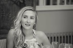 Wedding guest at Calcot Manor