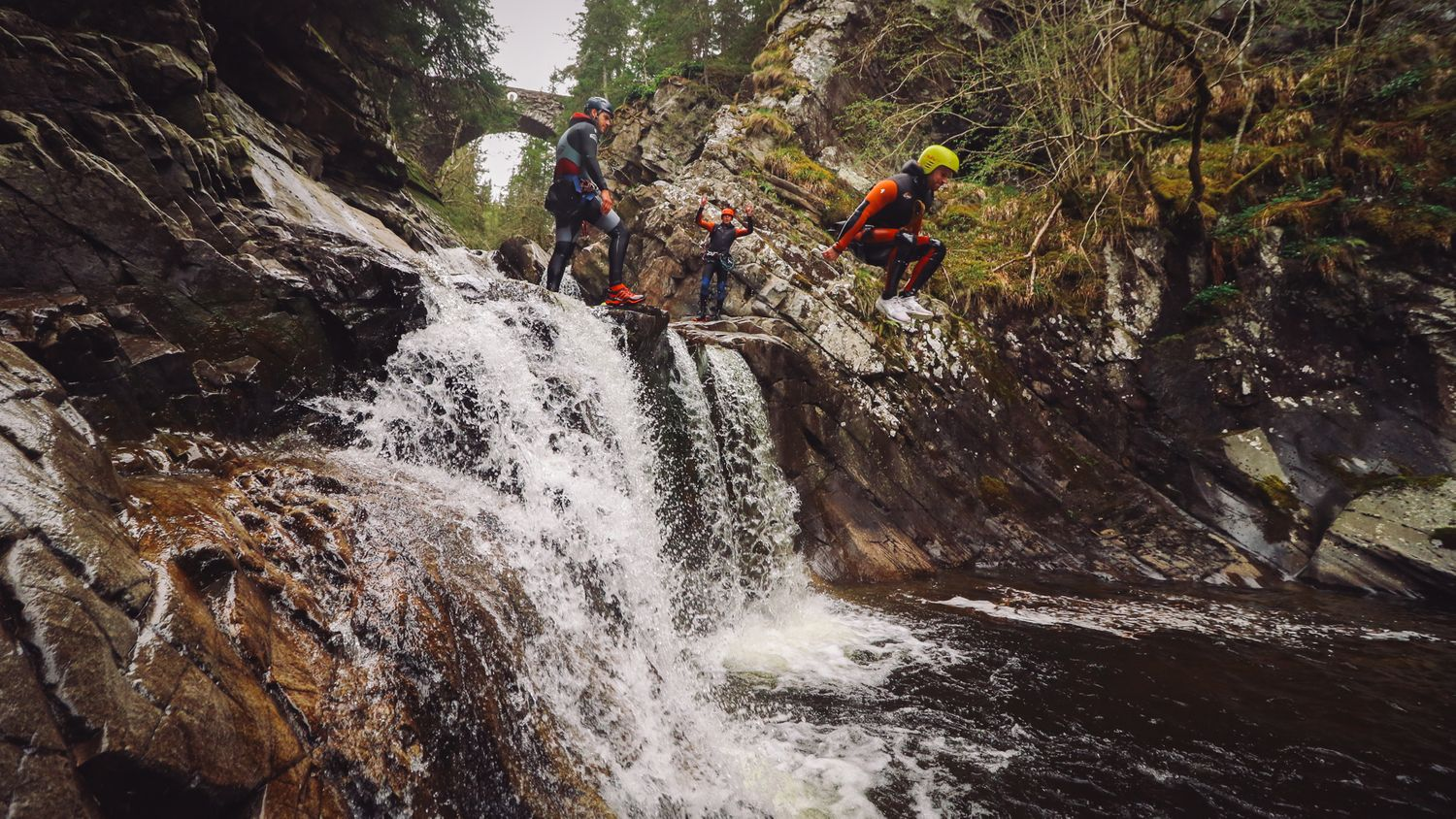 The Adventure Photographers Nae Limits Canyoning Bruar