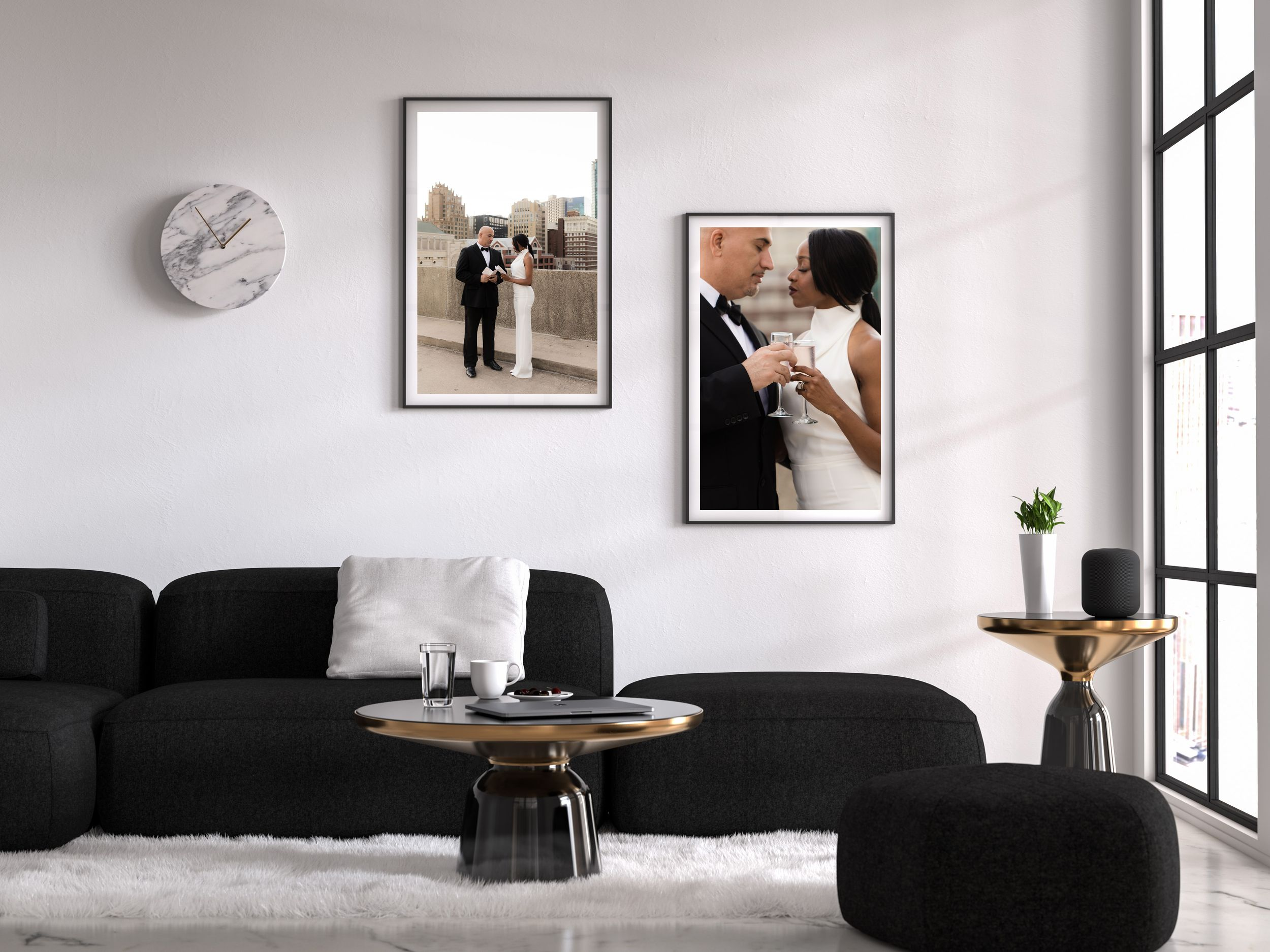 Printed Photography Wall Art in the Home.