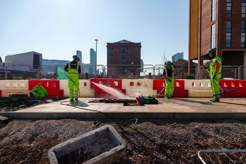 Liverpool Docks construction progress photography construction progress photography civil engineering