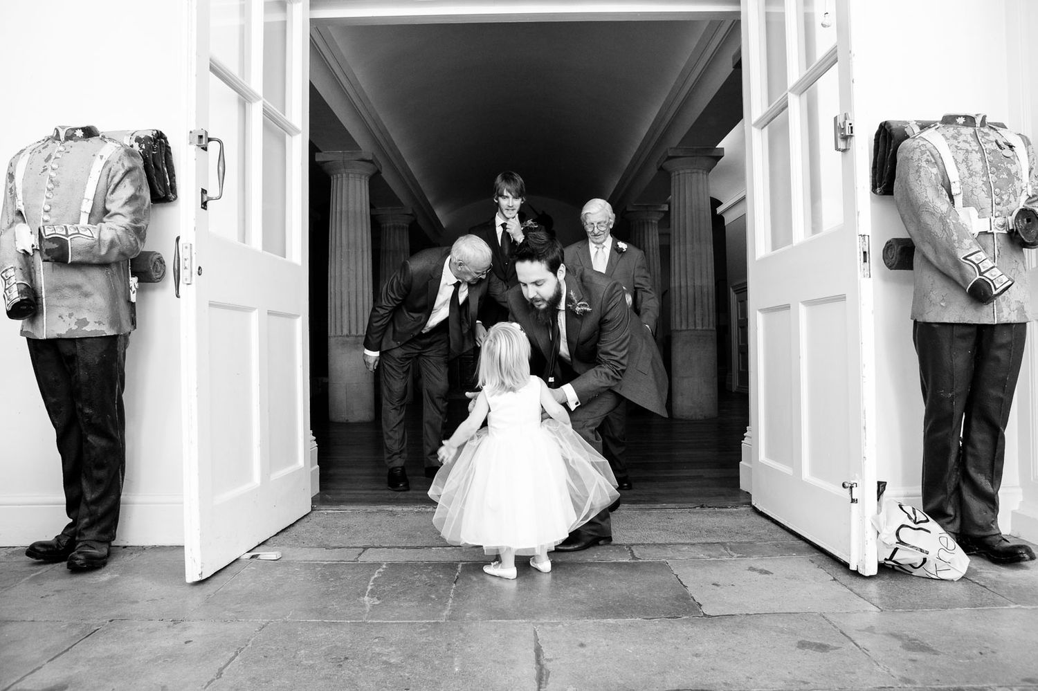 natural black and white candid wedding photography in Exeter Devon