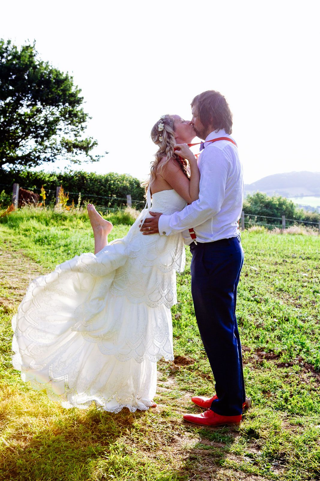 boho style wedding in Devon